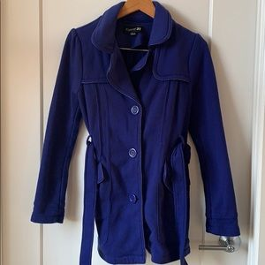Blue Trench-Style Jacket